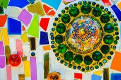 Fundo colorido do teste padrão de mosaico Feito de cerâmico Fotografia de Stock Royalty Free