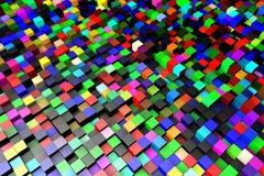 Fundo colorido do teste padrão dos cubos Imagens de Stock Royalty Free