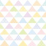 Fundo colorido do triângulo com projeto tradicional japonês Foto de Stock Royalty Free