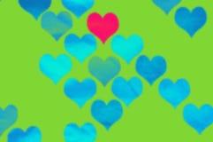 Fundo colorido do vetor com corações Imagens de Stock