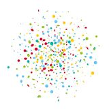Fundo colorido dos confetes do carnaval Fotografia de Stock