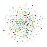Fundo colorido dos confetes do carnaval Imagens de Stock
