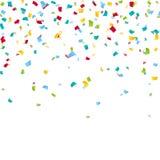 Fundo colorido dos confetes do carnaval Imagem de Stock Royalty Free
