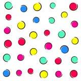 Fundo colorido dos confetes do pop art Imagem de Stock