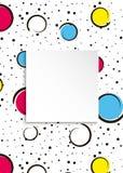 Fundo colorido dos confetes do pop art Pontos e circ coloridos grandes Foto de Stock