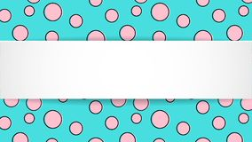 Fundo colorido dos confetes do pop art Pontos e circ coloridos grandes Imagem de Stock Royalty Free