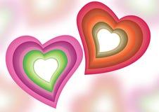 Fundo colorido dos corações Fotos de Stock