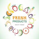 Fundo colorido dos frutos Fotos de Stock Royalty Free