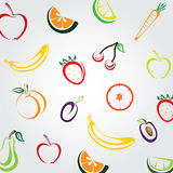 Fundo colorido dos frutos Fotografia de Stock