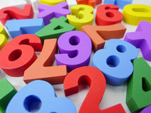 Fundo colorido dos números Foto de Stock