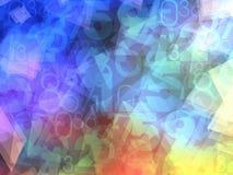 Fundo colorido dos números abstratos ilustração royalty free
