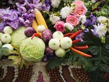 Fundo colorido dos vegetais Comer saudável Foto de Stock