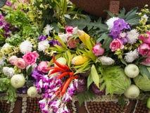 Fundo colorido dos vegetais e das flores Foto de Stock Royalty Free
