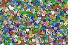 Fundo colorido feito dos botões da costura Imagem de Stock Royalty Free
