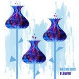 Fundo colorido. Flores. Ilustração Royalty Free