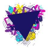 Fundo colorido na moda Elementos de cor modernos abstratos no estilo dos grafittis ilustração do vetor