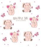 Fundo colorido para crianças com elefantes Imagem de Stock Royalty Free