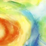 Fundo colorido pintado da aquarela. fotografia de stock royalty free
