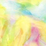 Fundo colorido pintado da aquarela foto de stock