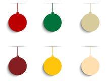Fundo colorido retro do moderno do Feliz Natal Fotografia de Stock Royalty Free