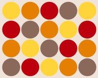 Fundo colorido retro dos círculos Fotografia de Stock Royalty Free