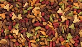 Fundo colorido seco dos alimentos para animais de estimação (cão ou gato) Imagem de Stock Royalty Free