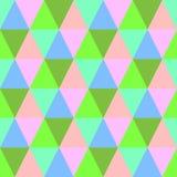 Fundo colorido sem emenda do triângulo Teste padrão abstrato de matéria têxtil Foto de Stock