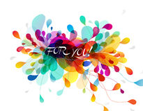 Fundo colorido sumário com folhas Fotos de Stock Royalty Free