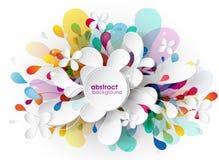 Fundo colorido sumário com formas diferentes Fotografia de Stock