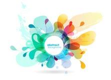 Fundo colorido sumário da flor com círculos Fotografia de Stock Royalty Free