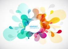 Fundo colorido sumário da flor com círculos Imagens de Stock Royalty Free