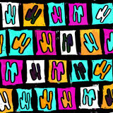Fundo colorido sumário de polígono bonitos dos grafittis Fotos de Stock