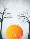 Fundo com árvore Ilustração Stock