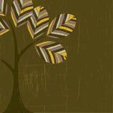 Fundo com a árvore abstrata do grunge. ilustração do vetor