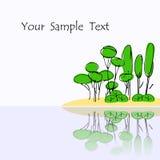 Fundo com árvores Imagens de Stock
