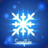 Fundo com ícone abstrato do floco de neve Fotos de Stock Royalty Free