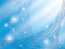 Fundo com abstracção azul e estrelas Foto de Stock Royalty Free