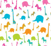 Fundo com animais africanos Imagem de Stock