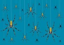 Fundo com aranhas Fotografia de Stock Royalty Free