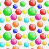 Fundo com as bolas do colorfull sem emenda, Imagens de Stock
