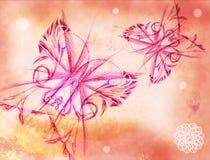 Fundo com as borboletas ilustração stock