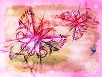 Fundo com as borboletas ilustração do vetor