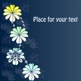 Fundo com as flores abstratas com seu texto Imagem de Stock