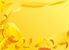 Fundo com as folhas de queda do outono Imagem de Stock Royalty Free