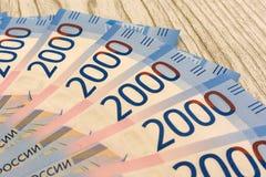 Fundo com as notas de dólar do americano cem do dinheiro - horizontais Foto de Stock
