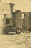 Fundo com as ruínas da cidade grega Ilustração Royalty Free
