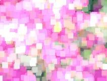 Fundo com a azálea borrada abstrata da flor no prado e na luz solar brilhante do verão Pode usar-se como o papel de parede, proje ilustração do vetor