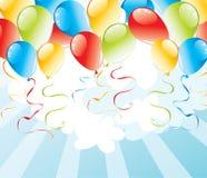 Fundo com balões ilustração do vetor