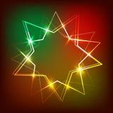 Fundo com bandeira de néon Ilustração Foto de Stock Royalty Free