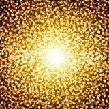 Fundo com bokeh de incandescência do ouro Foto de Stock Royalty Free